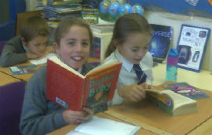 Year 5 enjoy the brilliant new book club!
