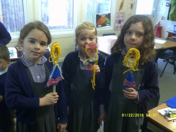 Puppet making in Year 2!