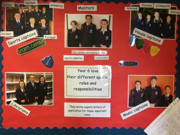 Year 6 take on new roles