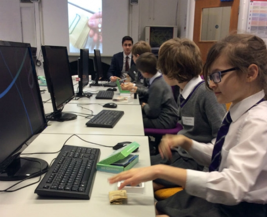 Year 5 get a taste of raspberry pi at Epsom