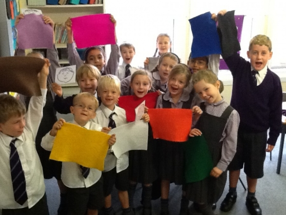 Colourful French lessons in Year 2