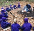 Year 1 wrap up warm for Forest School