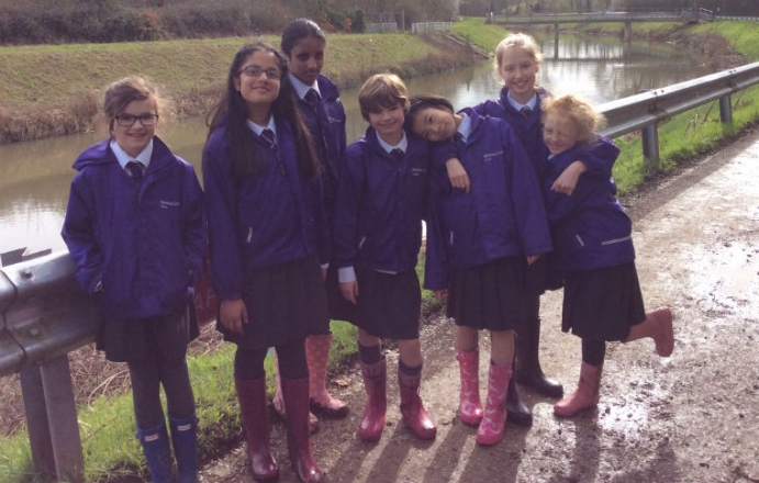 Year 5 along the river bank