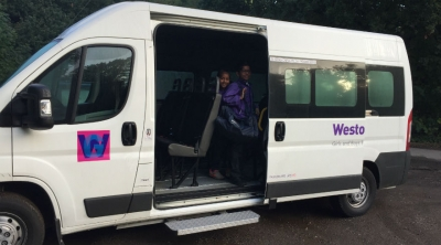 All aboard the WGS morning minibus!