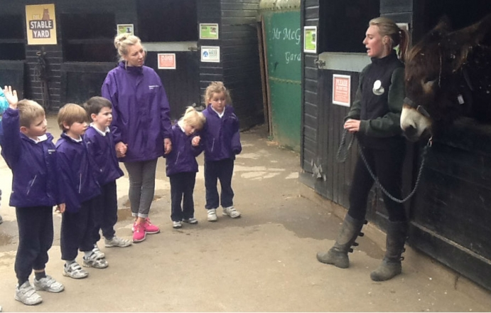 Reception visit Bockett's Farm