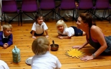 Kindergarten pupils enjoy a weekly yoga session