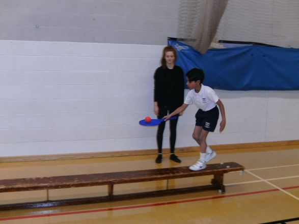 Esher students lead sports session