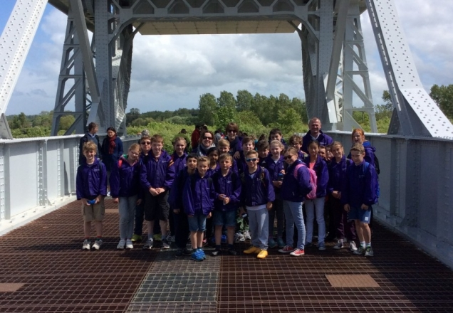 Year 5 and 6 pupils mark anniversary of Pegasus Bridge landings during trip to Normandy