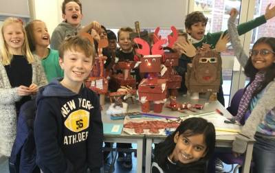 Year 6 light up Rudolph