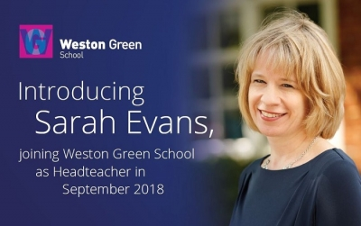 Introducing Sarah Evans, joining Weston Green School as Headteacher in September 2018