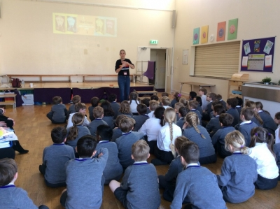 Author visit from Maz Evans