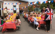 Street party lunch