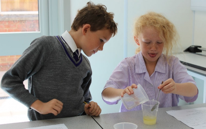 Science in action at WGS school.