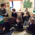 Reception Meets the Year 6 House Captains