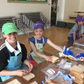 Food Committee help prepare a right royal feast!