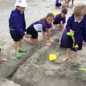 Years 1 and 6 take a  trip to West Wittering beach