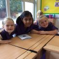 Year 6 take time to welcome the TWO new Year 3 classes!