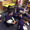 Year 6 pay a visit to Kindergarten to think about what Poppy gets up to when nobody is watching!