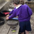 Year 2 investigate maths outside