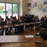 "Years 5 & 6 take part in a ""mock trial"" at Weston Green Crown Court"