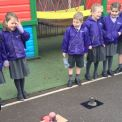 Year 1's live volcano show