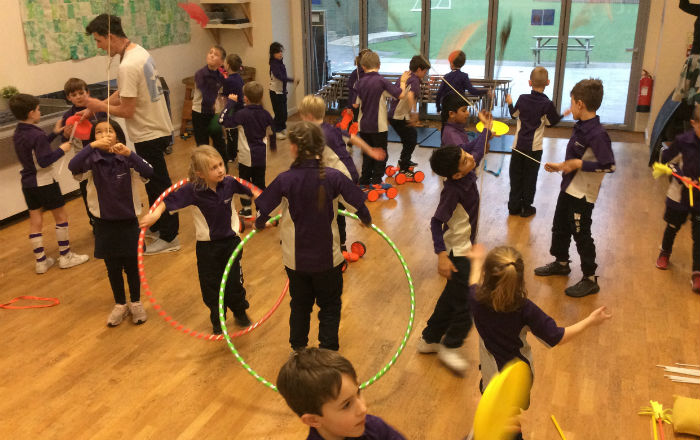 Circus skills with Year 3