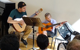 Music Students Perform at Teatime Concert
